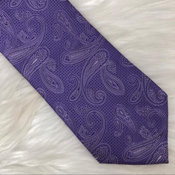 084254838d00 Michael Kors Purple Paisley Silk Tie CLEARANCE. M_5a9d94199cc7efe027ef3a2f
